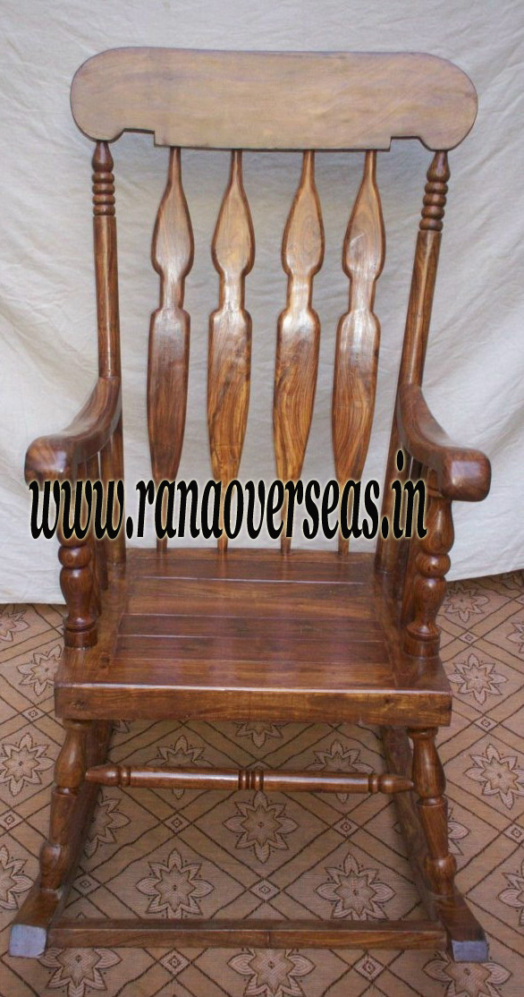 Wooden Rocking Chair 3