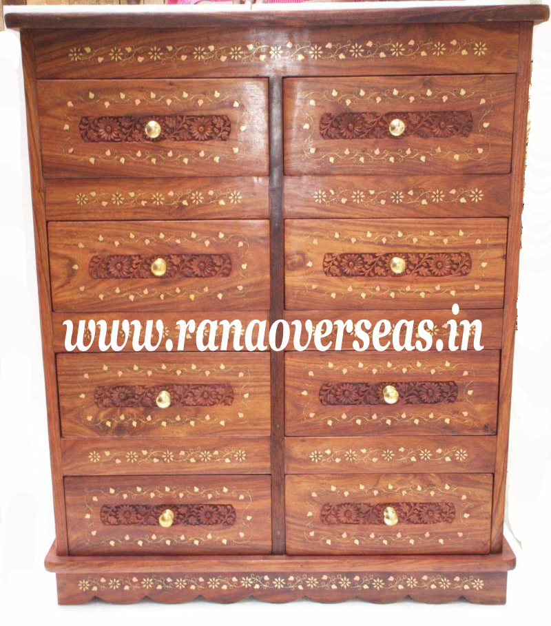 Wooden Drawer Chest - 6