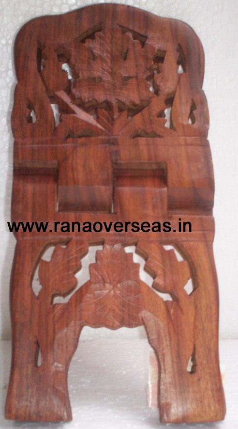 Wooden Carved Holy Book / Rahel Stand - 9