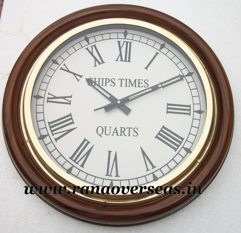 Wooden wall Hanging Clock in 16 Inches.