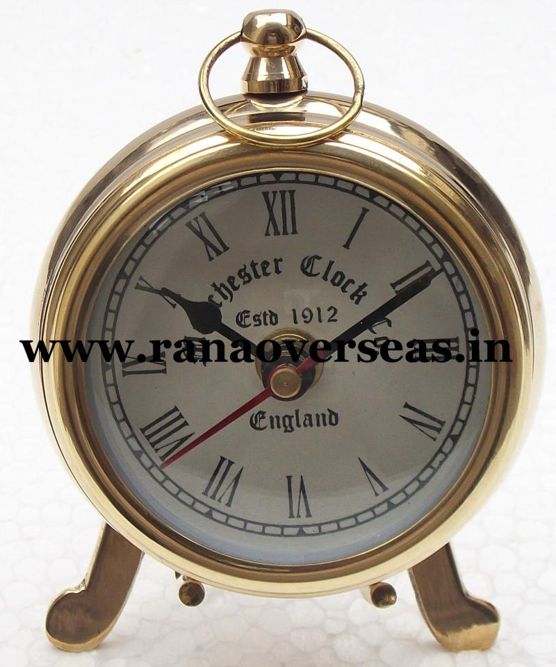 Brass Table Top Clock