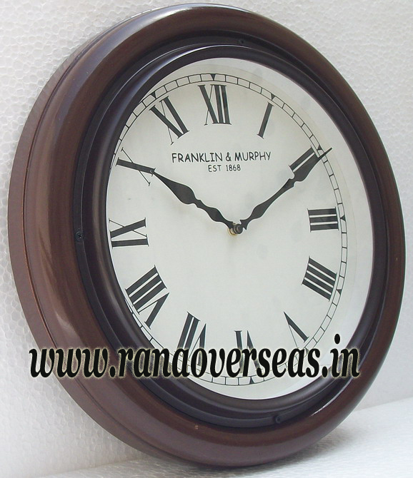 Wooden wall Hanging Clock in 16 Inches design no b