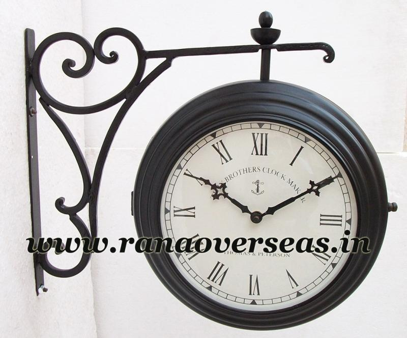 Double Sided Wall hanging Clock in 8 Inches Dial design No2.