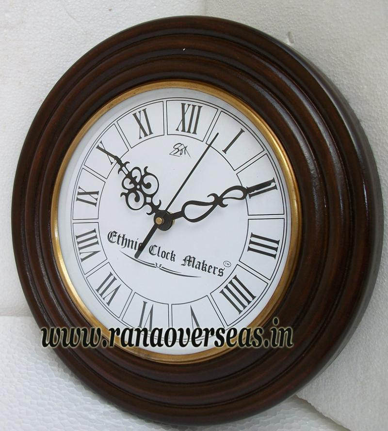 Wooden wall Hanging Clock in 11 Inches design no a