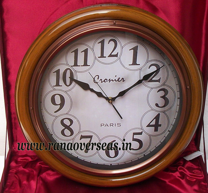 Wooden wall Hanging Clock in 16 Inches design no d
