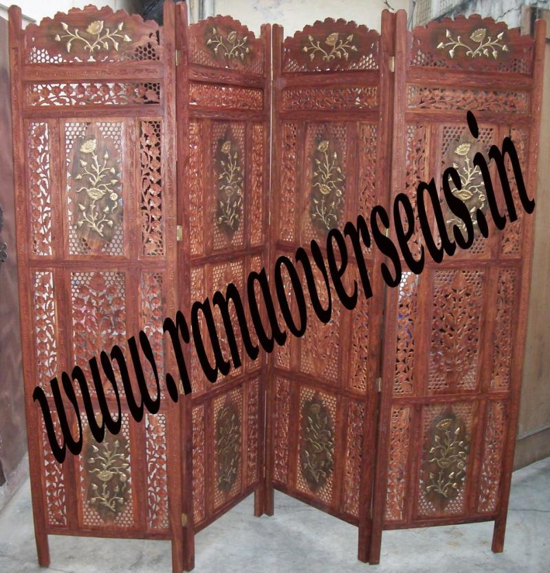 Wooden Room Divider Partition Screen 3