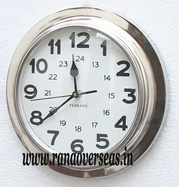 Wall Hanging Metal Clock in 11 Inches.