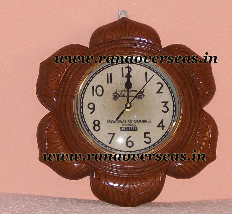 Wall Hanging Wooden Clock in 8 Inches