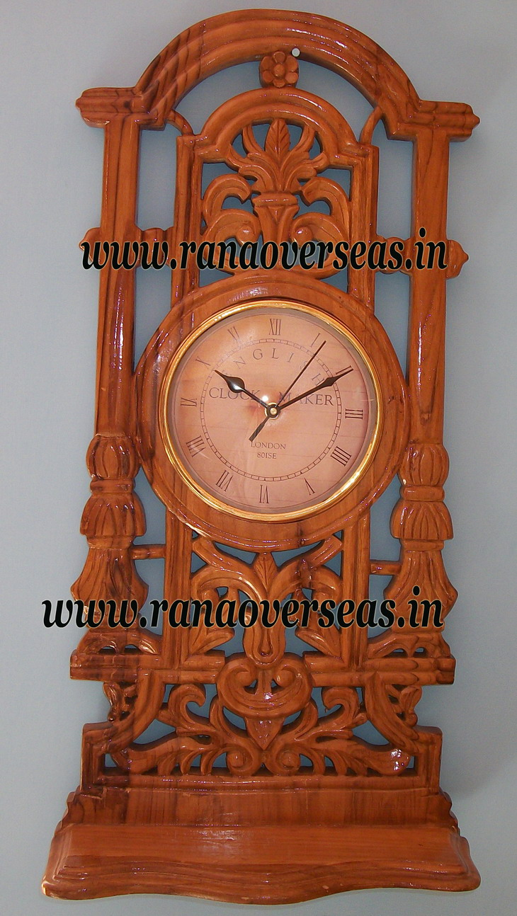 Sheesham Wood Wall hanging Clock in Unique Design