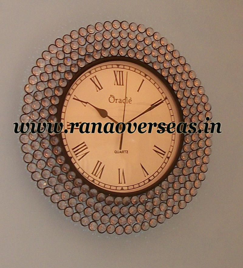 Wall hanging beaded Iron Metal Clock