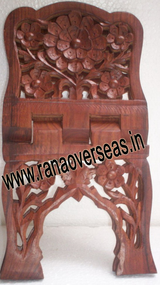 Wooden Carved Holy Book / Rahel Stand - 10