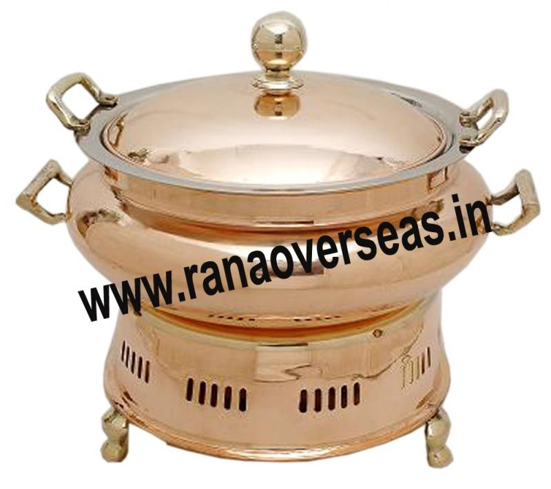 Chafing Dish in Copper Brass Metal Item No 128