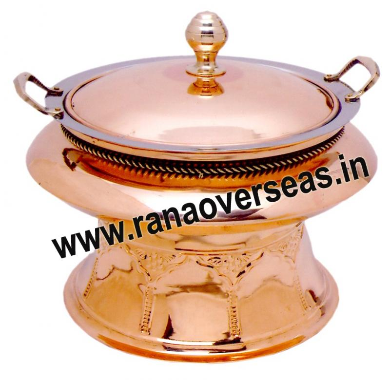 Chafing Dish in Copper Metal Item No 129