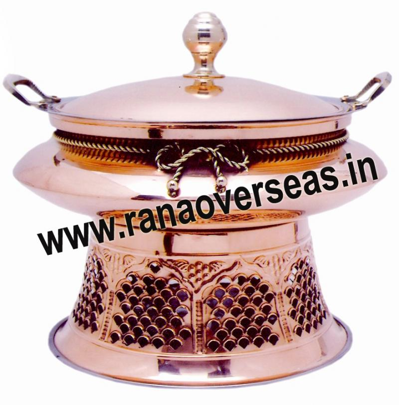 Chafing Dish in Copper Metal Item No 130