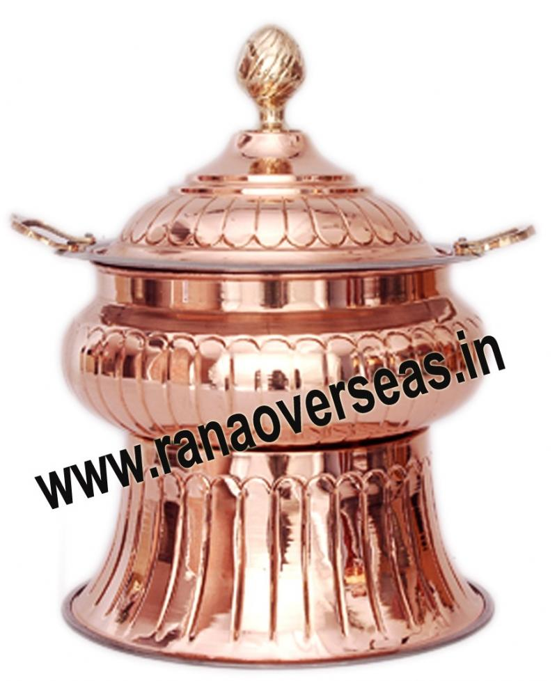 Chafing Dish in Copper Metal Item No 131