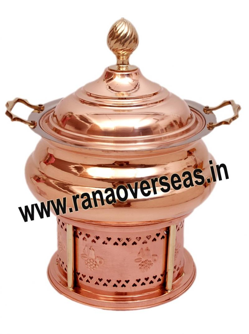 Chafing Dish in Copper Metal Item No 132