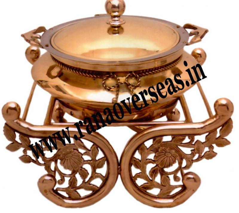 Chafing Dish in Copper Metal Item No 24