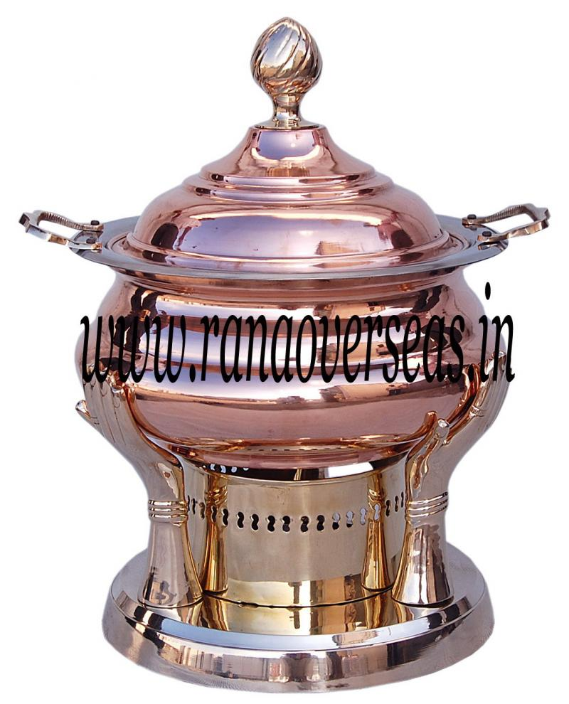 Chafing Dish in Copper Brass Metal Item No 39