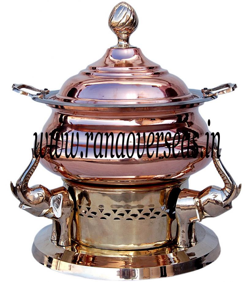 Chafing Dish in Copper Brass Metal Item No 40