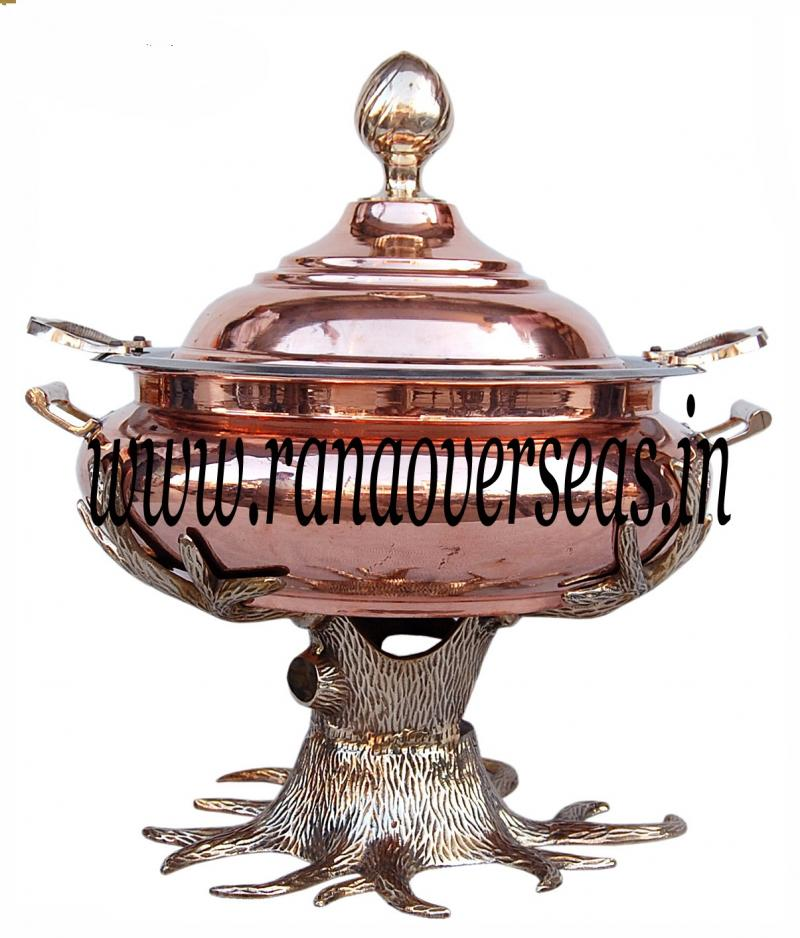 Chafing Dish in Copper Brass Metal Item No 41