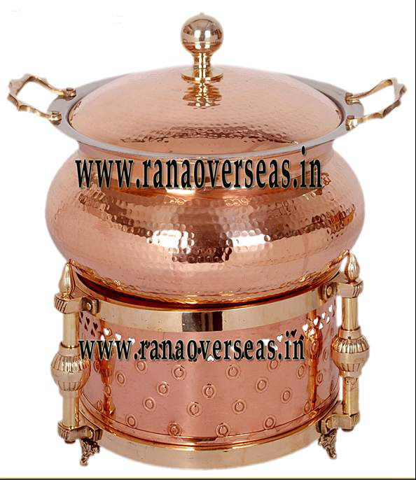 Chafing Dish in Copper Metal Item No 5