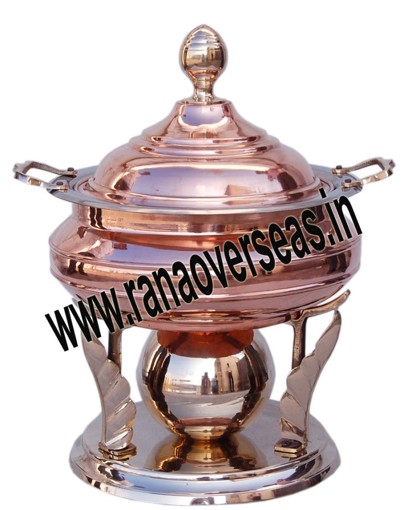 Chafing Dish in Copper Metal Item No 62