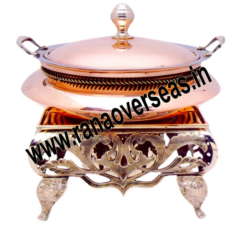 Chafing Dish in Copper Brass Metal Item No 63