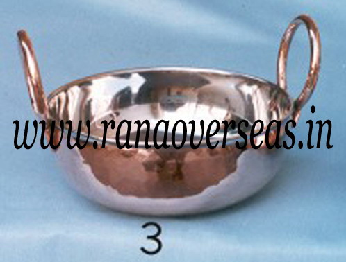 Copper Steel Serving Dish 2