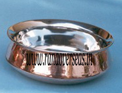 Copper Steel Serving Dish 3