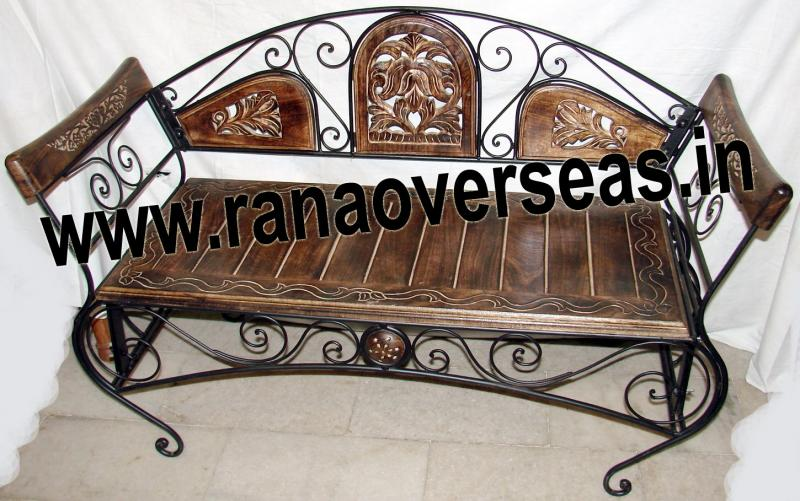 WOOD IRON COMBINATION CHAIR