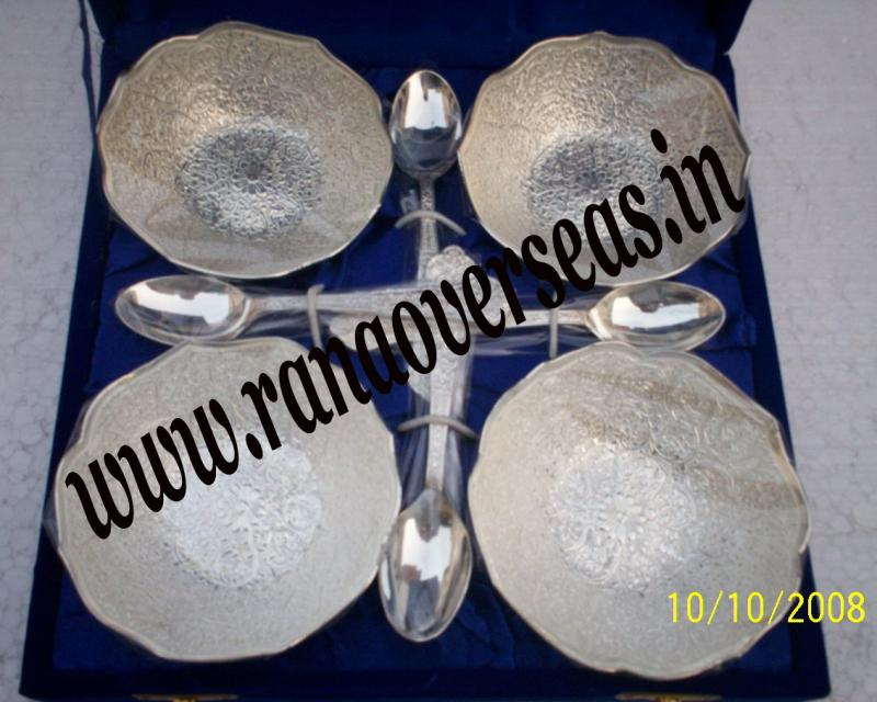 Silver Plated Bowl Sets with Spoon1