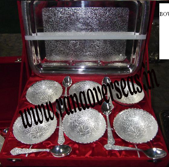 Silver Plated Bowl Sets with Spoon 2