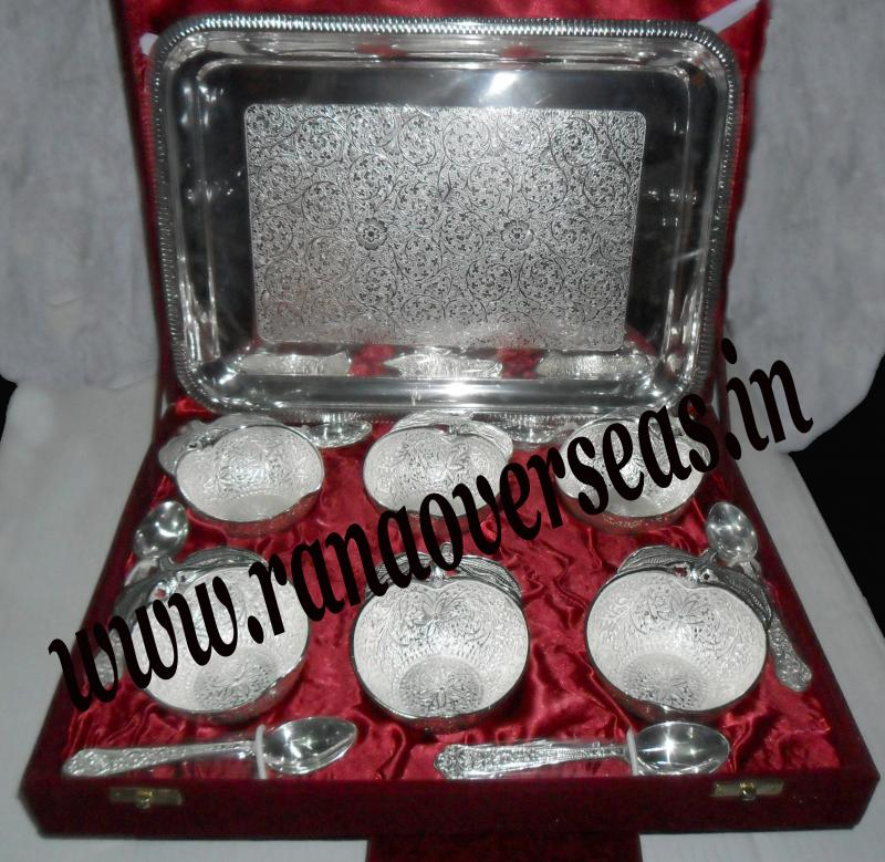 Silver Plated Bowl Sets with Spoon3