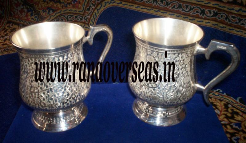 Silver plated bear Mug 1