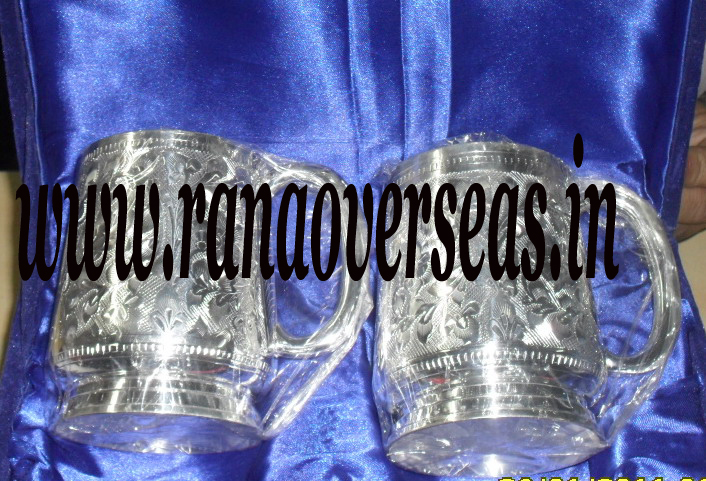 Silver plated bear Mug 2