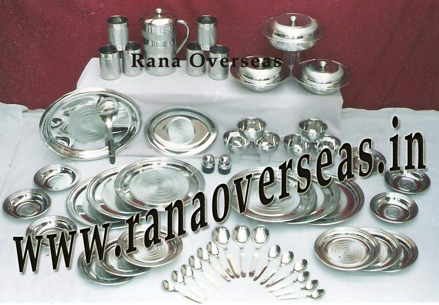 Stainless Steel Dinner Set available in 51 Pcs Set & 66 Pcs Set.