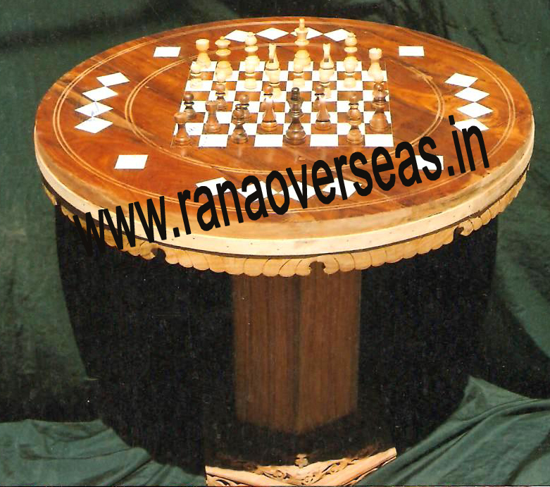 Wooden Chess table With Dices