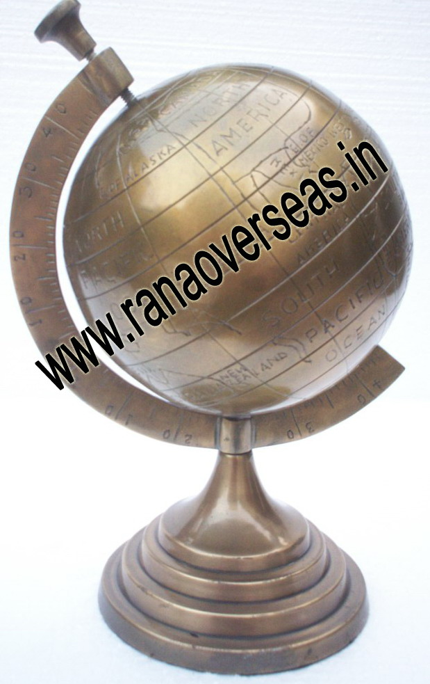 Brass Antique World Globe
