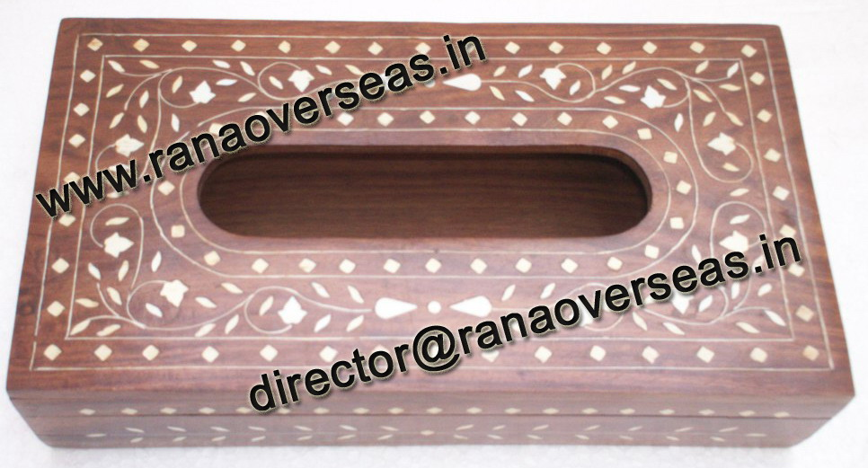 WOODEN TISSUE BOX HOLDER - 1