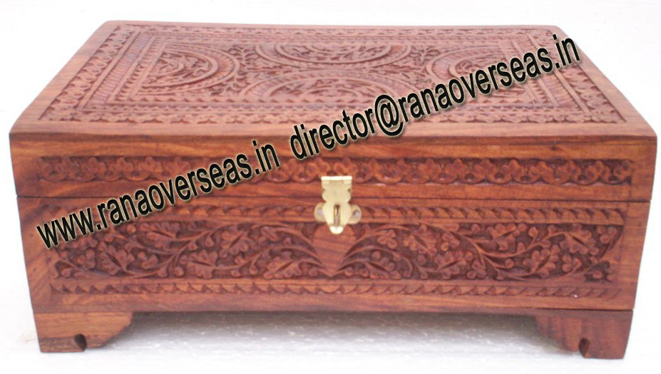 WOODEN CARVED BANGLE BOX - 1
