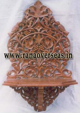 Wooden Carved Wall Rack - 1