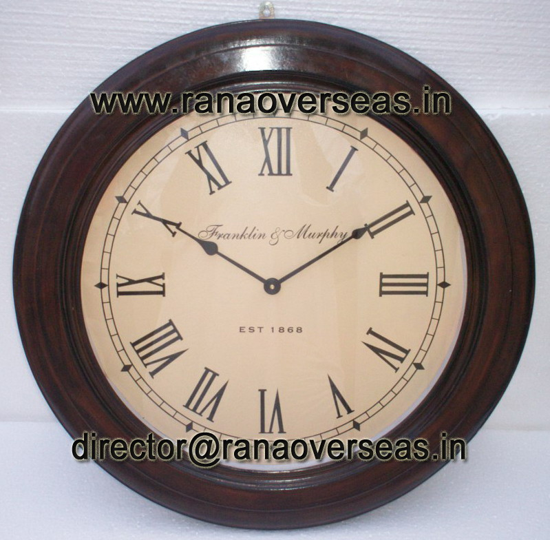 "WOODEN CLOCK 24"" INCHES"