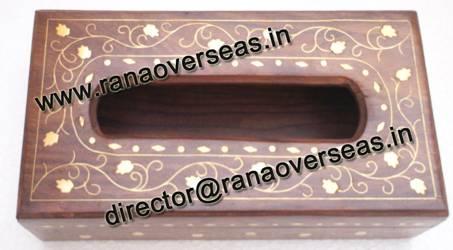 WOODEN TISSUE BOX HOLDER - 2