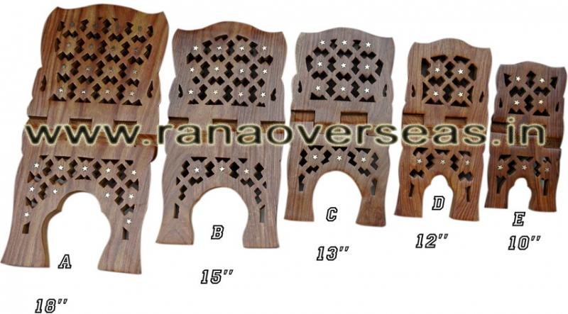 Wooden Carved Holy Book / Rahel Stand - 1