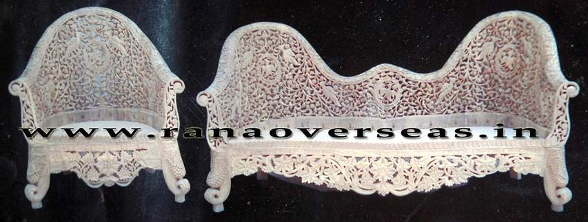 Wooden Hand carved Sofa Set - 1