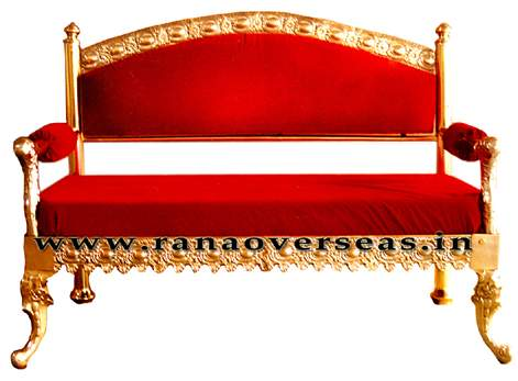 Brass Metal 2 Seater Sofa Set