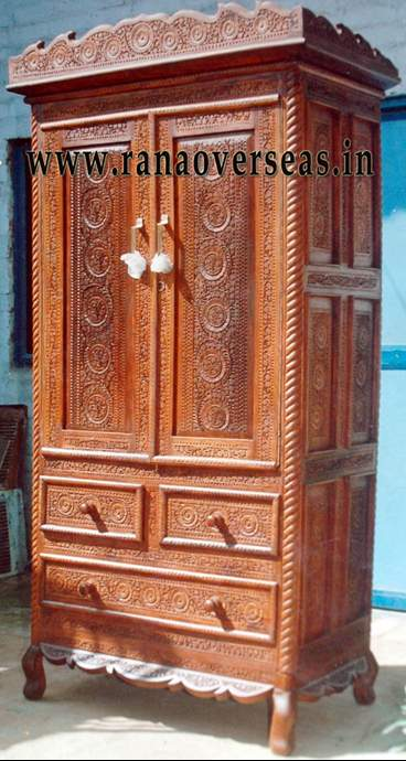 Wooden Carved  Almirah