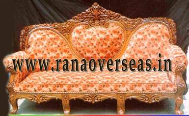 Wooden Hand carved Sofa Set - 2