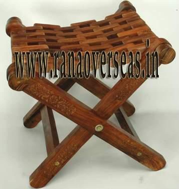 Wooden Folding Stool  - 1