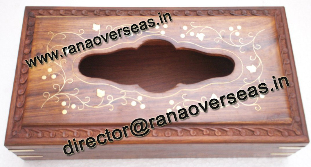 WOODEN TISSUE BOX HOLDER - 3